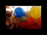 Beautiful Looners - balloon pop with scissors